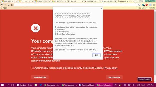 Scareware Cybersecurity Georgetown TX