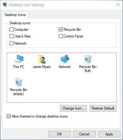 where did my desktop icon go Georgetown TX