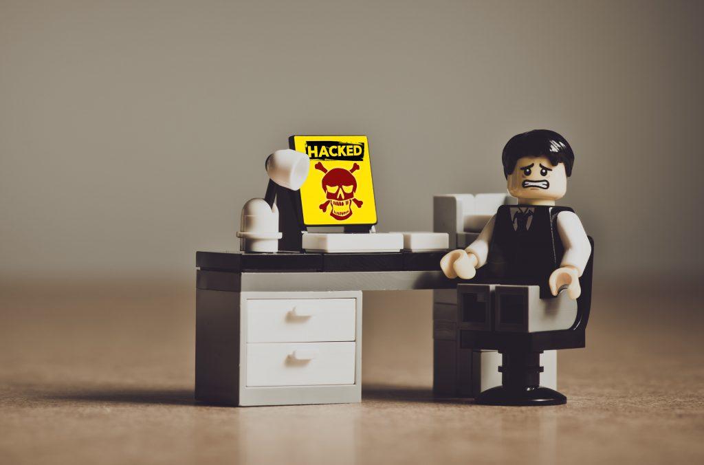 Hacked lego businessman