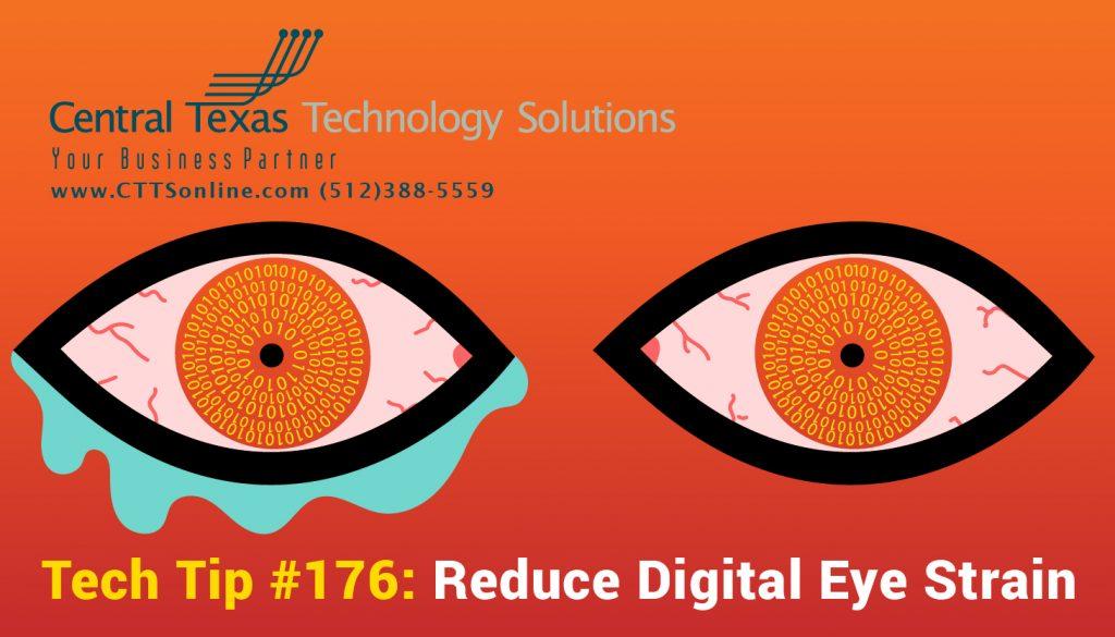 reduce computer eye strain Georgetown TX