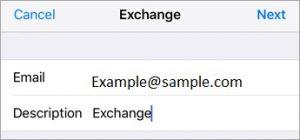 M365 exchange setupemail example