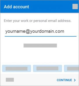 add an outlook account to my mobile device Georgetown TX