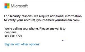multi-factor authentication Outlook M365 mobile app