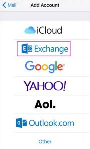 add exchange to apple mail