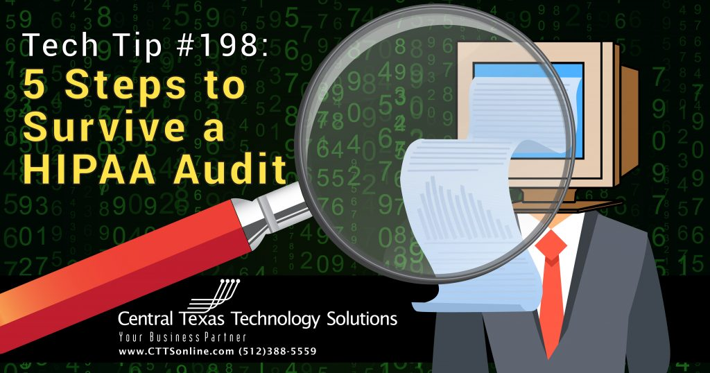 how to prepare for a HIPAA audit Georgetown TX