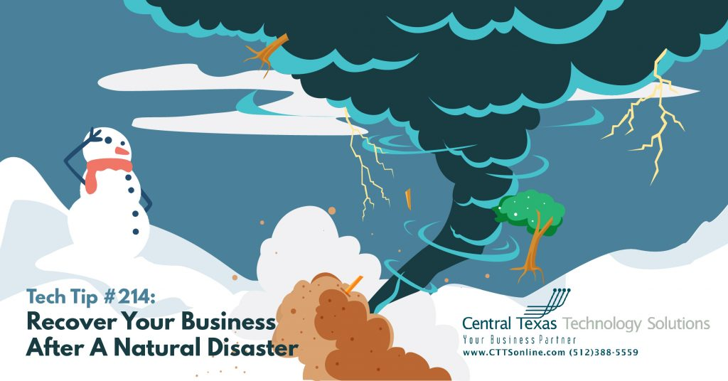 how to recover business form natural disaster Texas
