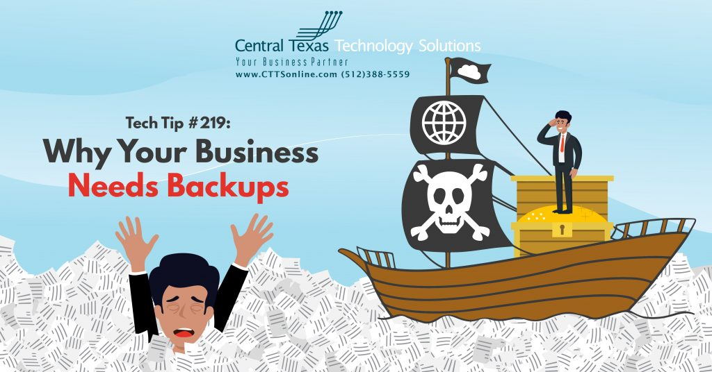 how to backup business data