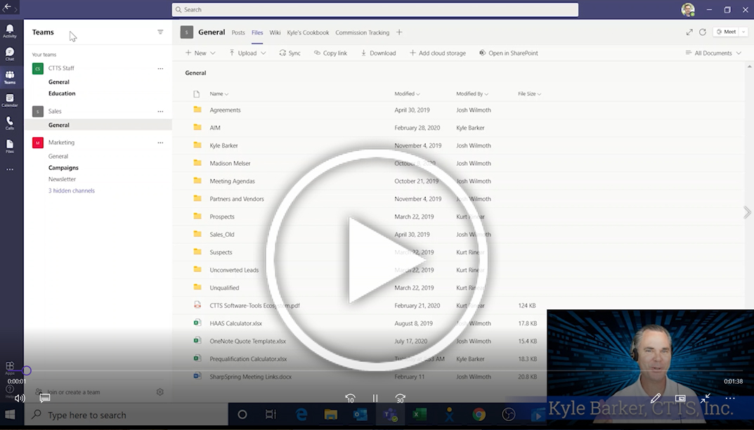 Kyle Barker shows you how to print from Microsoft Teams